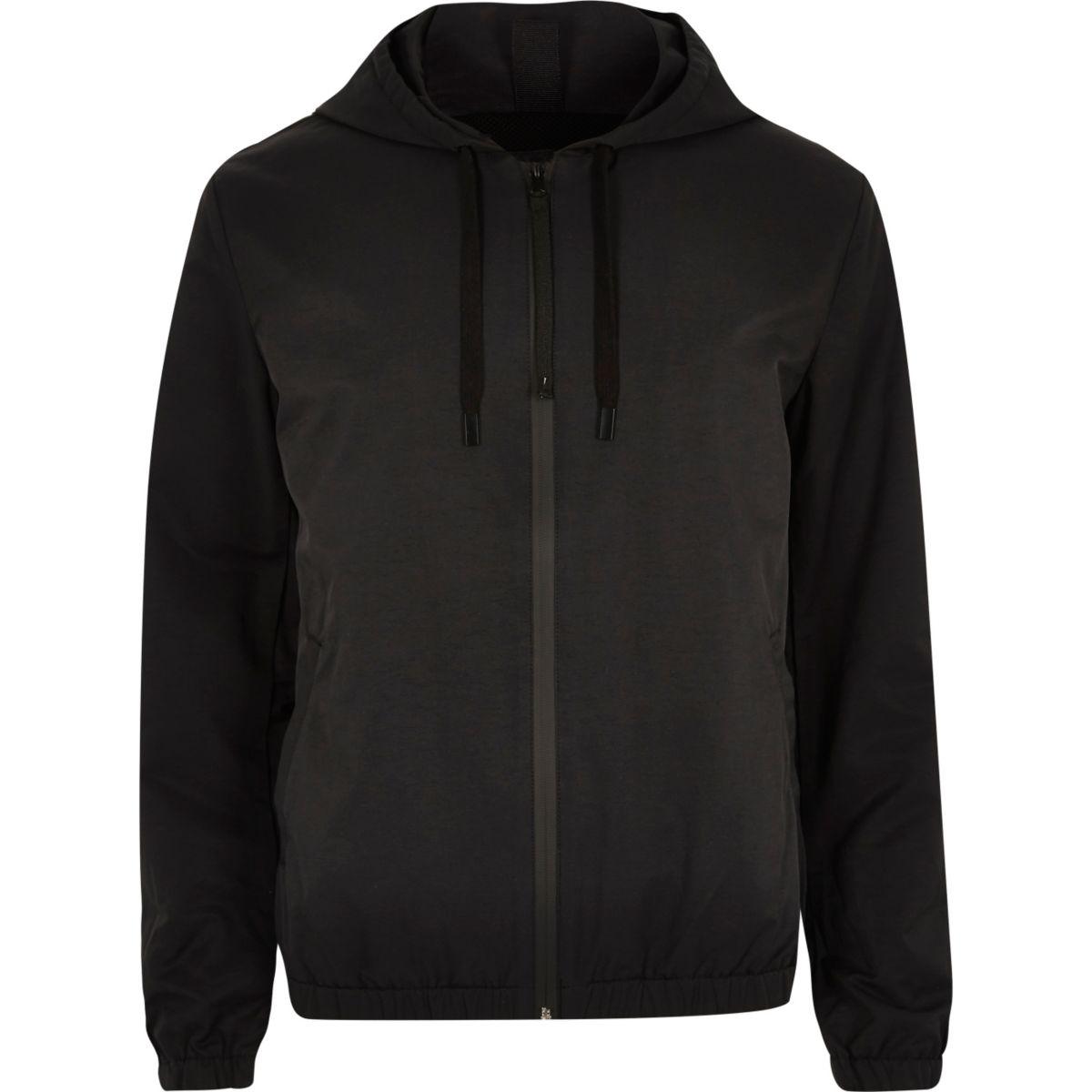 Veste à capuche noire