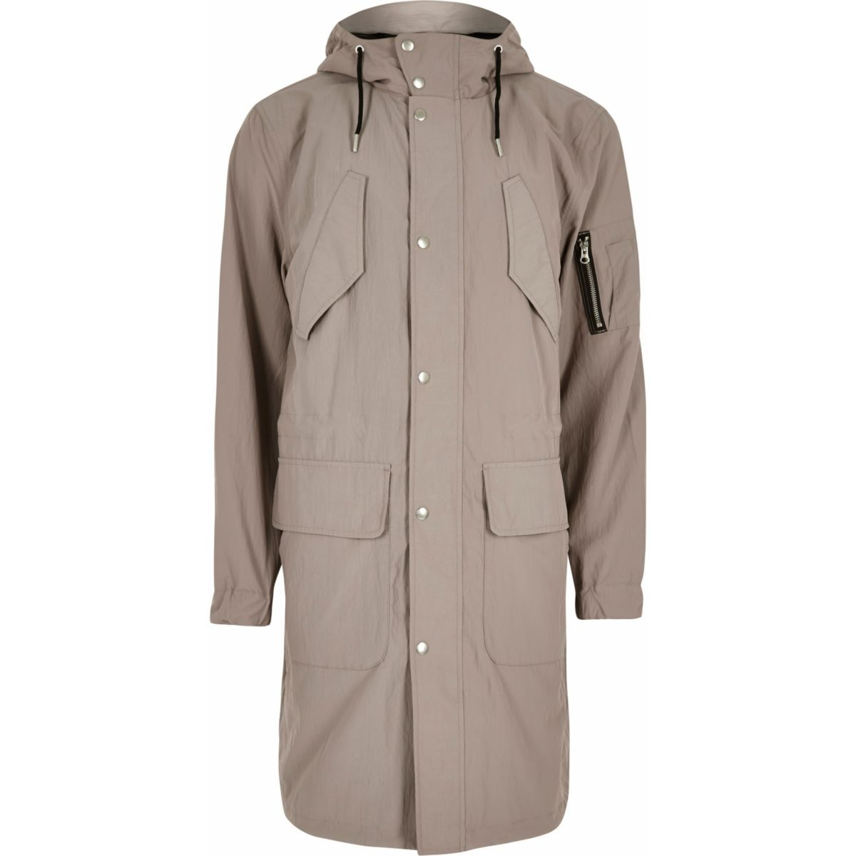 Stone pocket parka coat