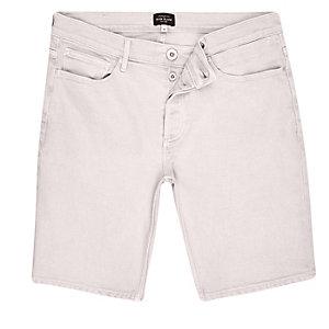 Short en jean rose