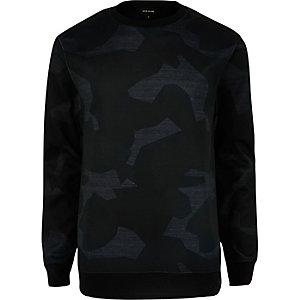 Grijs scuba-sweatshirt met camouflageprint