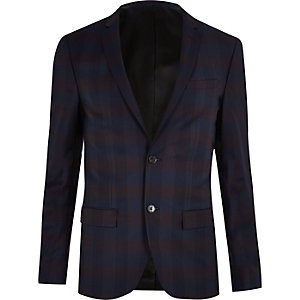 Veste de costume violette coupe ajustée