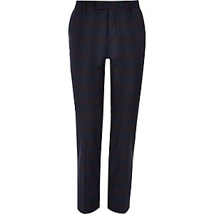 Purple skinny fit suit trousers