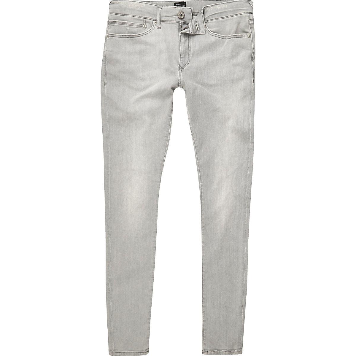 Grey wash Ollie spray on super skinny jeans