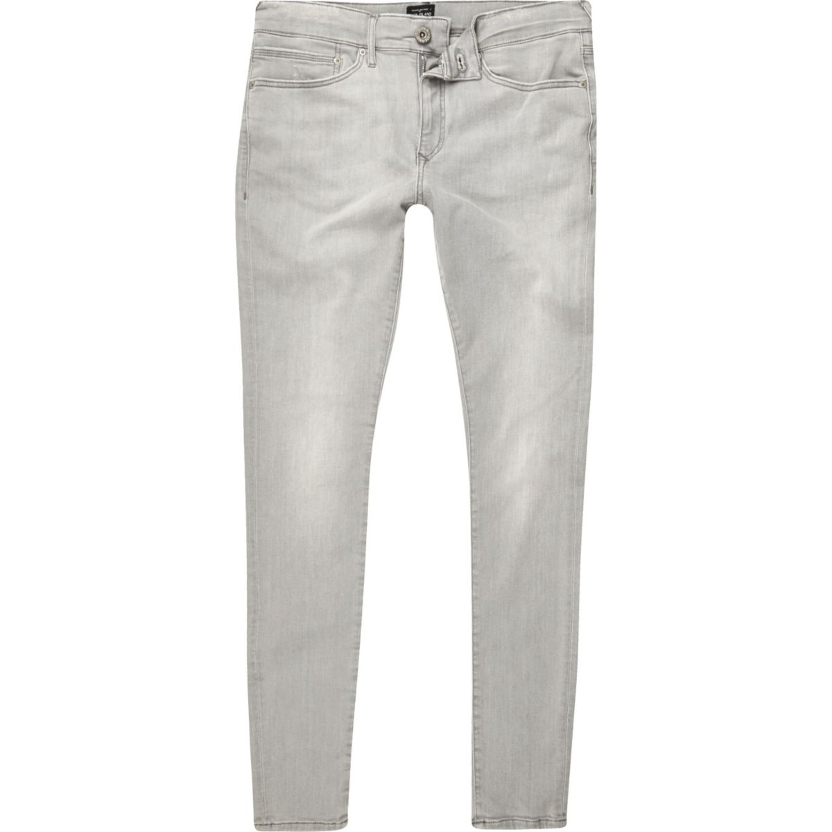 Grey wash Ollie spray on super skinny jeans