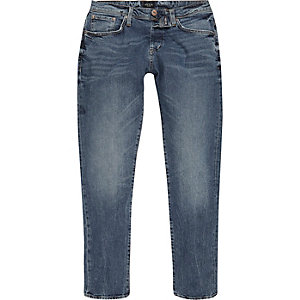 Mid blue wash Jimmy tapered jeans