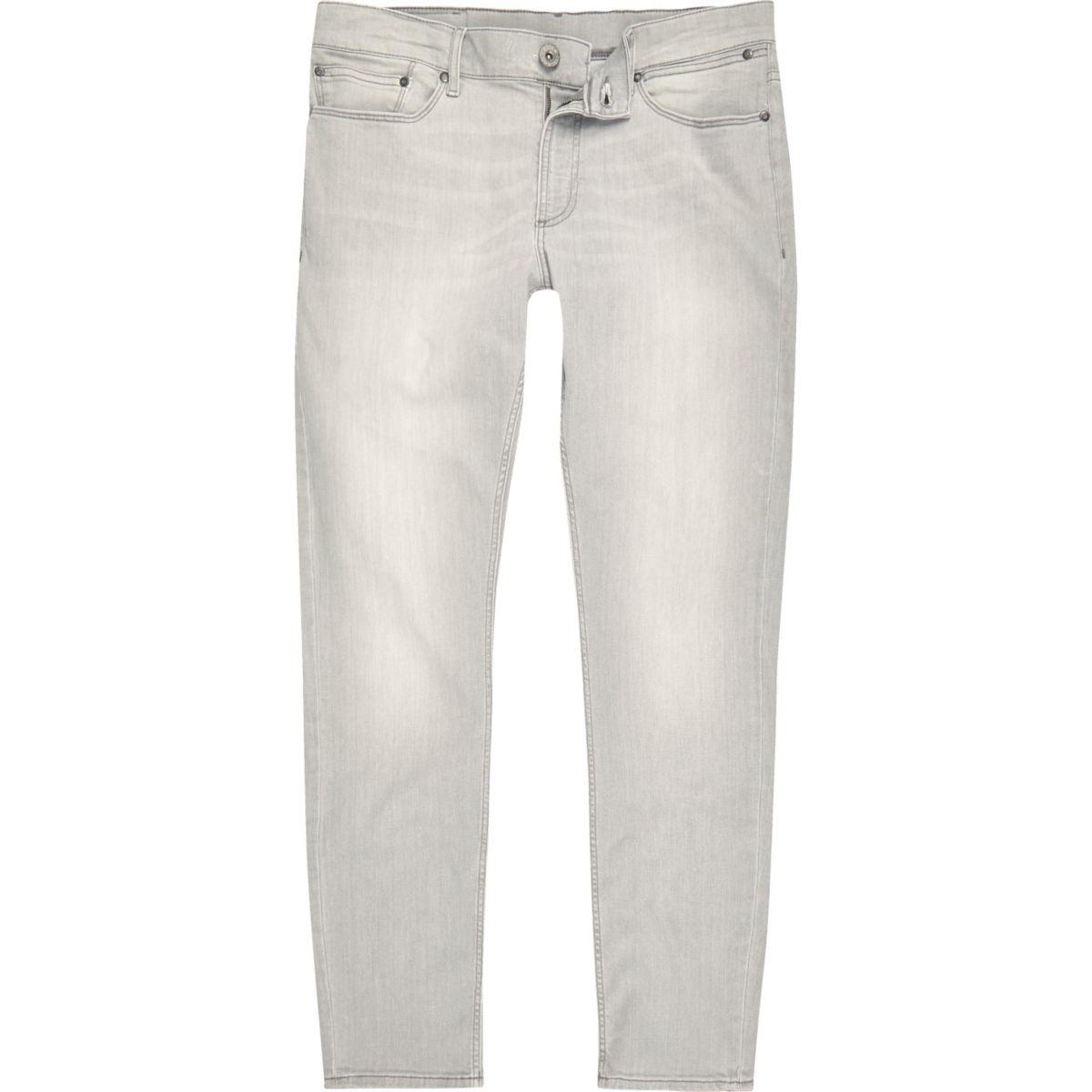 Grey wash skinny fit Sid jeans