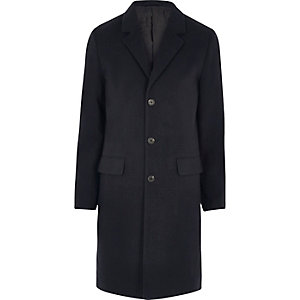 Navy blue smart overcoat
