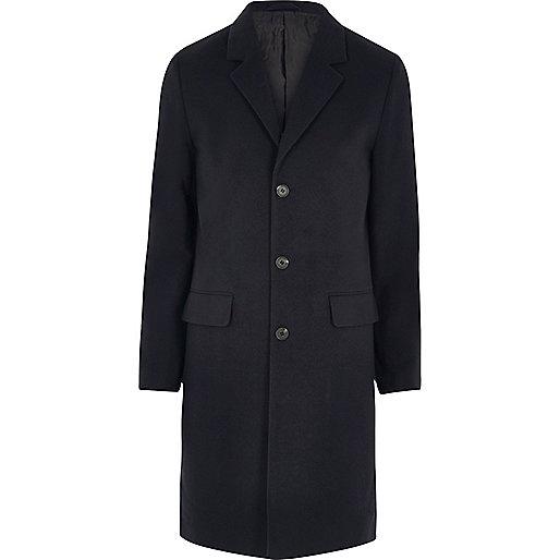 Navy blue smart overcoat