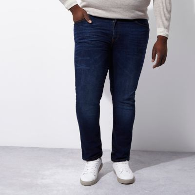 RI Big and Tall Dylan Blauwe slim-fit jeans