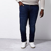 Big and Tall dark blue Dylan slim fit jeans