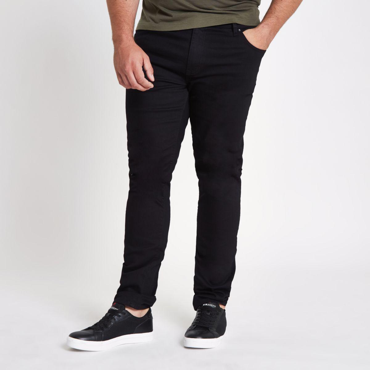 Big & Tall – Dylan – Schwarze Slim Fit Jeans