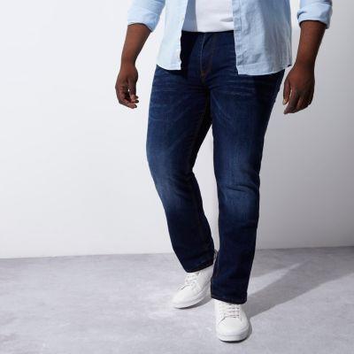 RI Big and Tall Dean Blauwe jeans met rechte pijpen