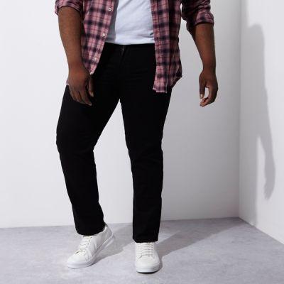 RI Big and Tall Dean Zwarte jeans met rechte pijpen