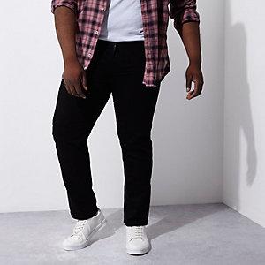 RI Big and Tall - Dean zwarte jeans met rechte pijpen