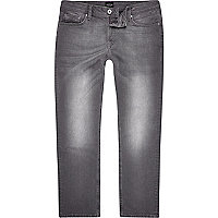 Big & Tall – Graue Straight Leg Jeans