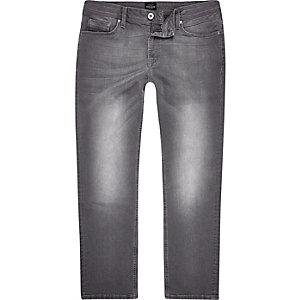RI Big and Tall - Dean - Grijze jeans met rechte pijpen
