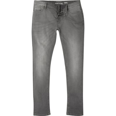 RI Big and Tall Sid Grijze skinny jeans