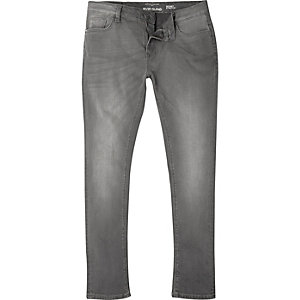Big and Tall grey Sid skinny jeans