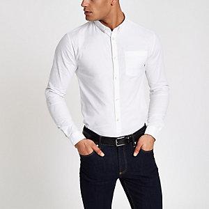 Oxford - Wit aansluitend casual overhemd