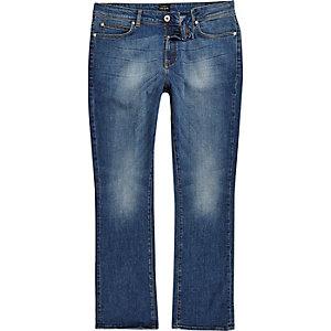 Clint – Jean bootcut bleu délavage moyen