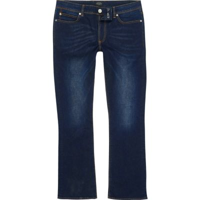 Clint Donkerblauwe bootcut jeans