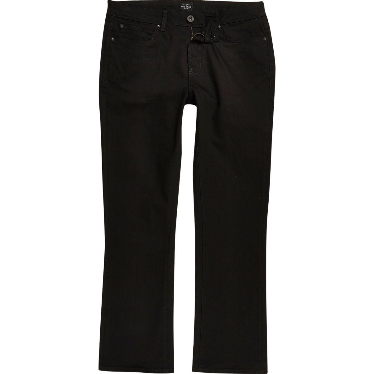 Clint – Schwarze Bootcut-Jeans
