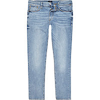 Mid blue wash faded skinny Sid jeans