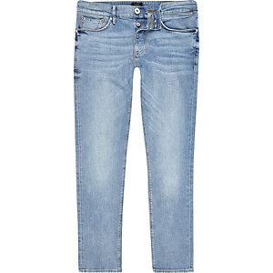 Mid blue wash faded skinny Sid jeans