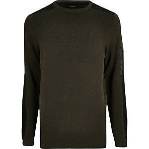 Slim Fit Pullover in Khaki