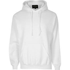 White casual hoodie