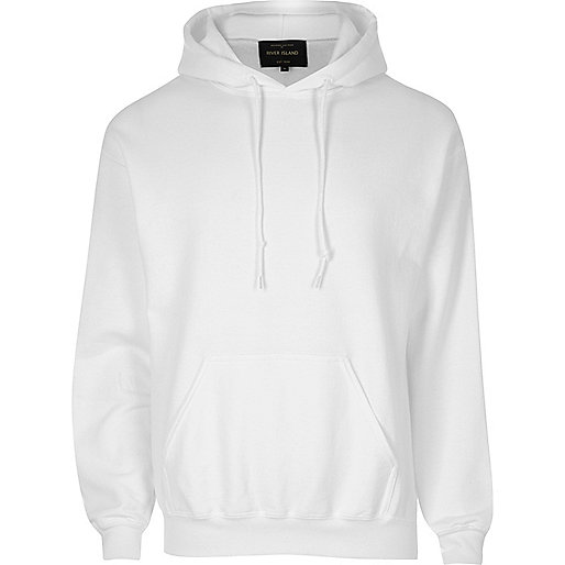 White casual hoodie
