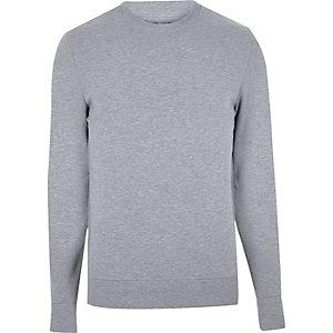 Hellblaues Sweatshirt mit Rundhalsausschnitt