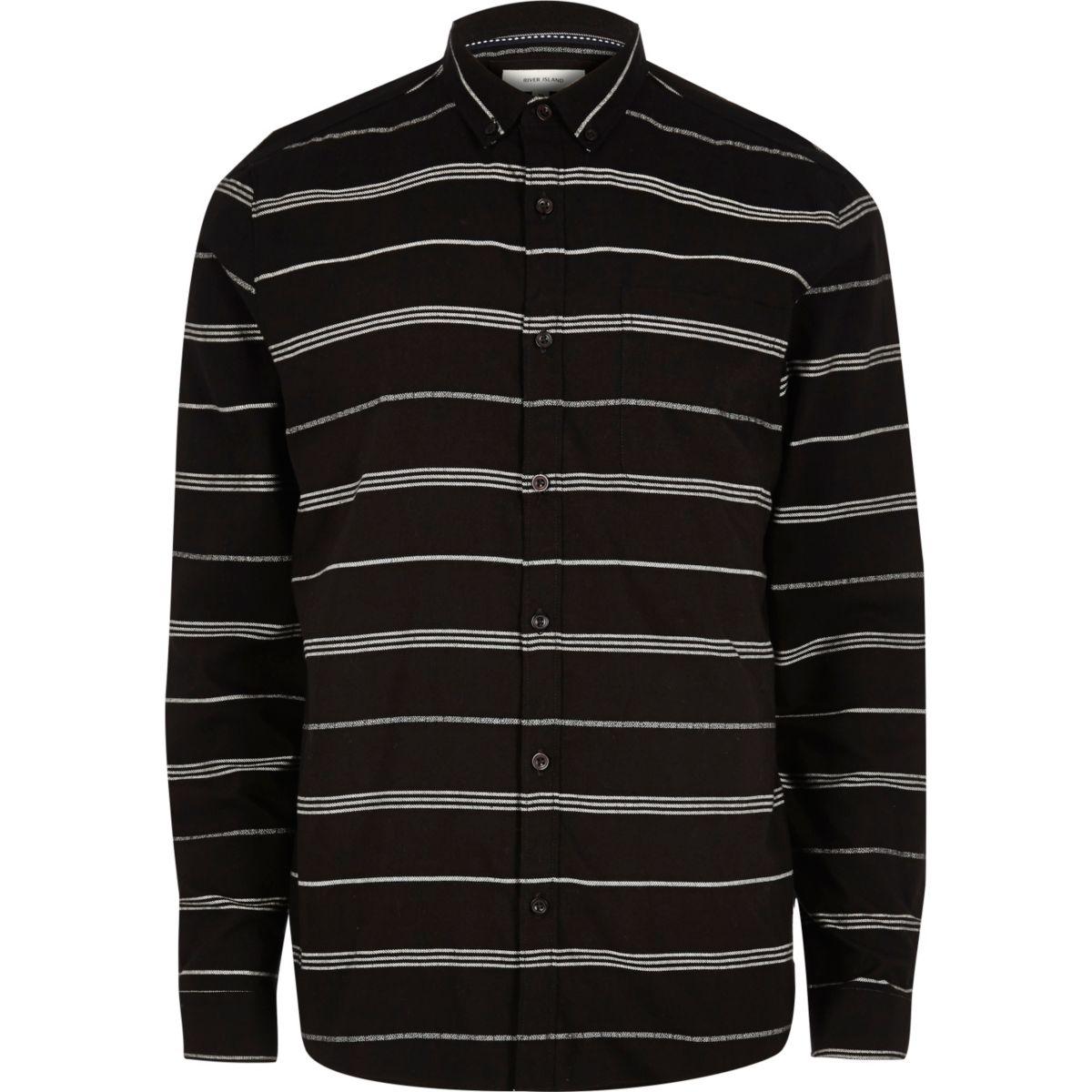 Black stripe long sleeve shirt