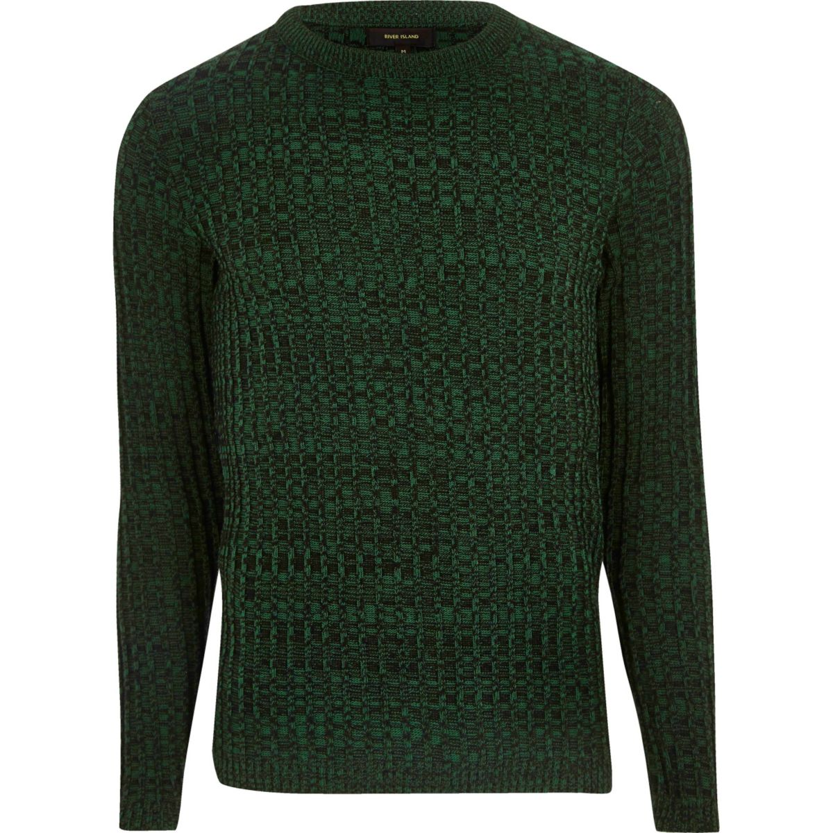 Green ribbed jumper