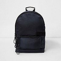 Navy blue puffer backpack
