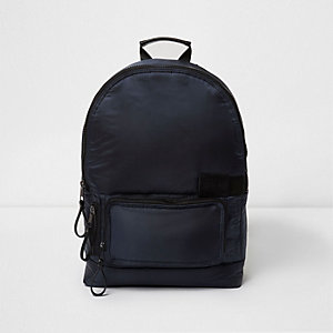 Navy blue puffer backpack