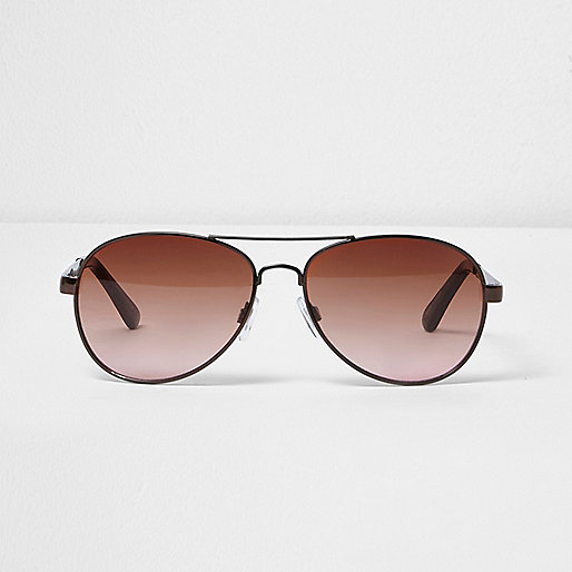 Brown aviator sunglasses