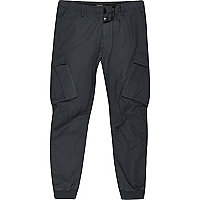 Big and Tall navy blue cargo tapered pants