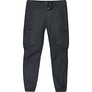 Big and Tall – Pantalon cargo fuselé bleu marine