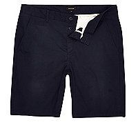 Big and Tall navy chino shorts
