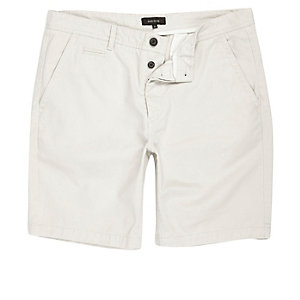 Big and Tall grey chino shorts