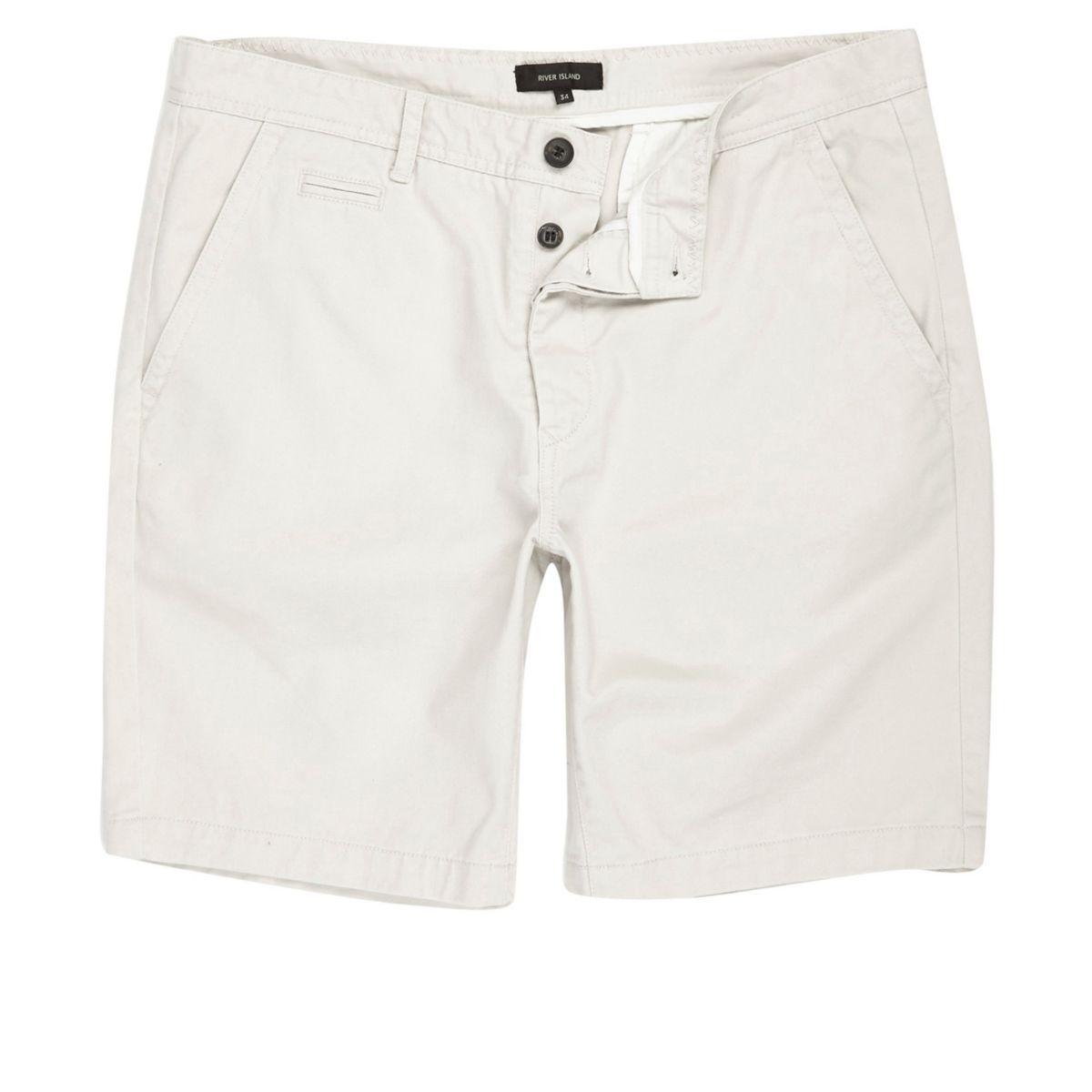 Big & Tall – Graue Chino-Shorts