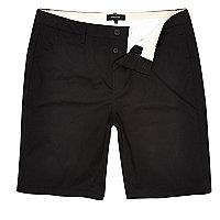 Big & Tall – Schwarze Chino-Shorts
