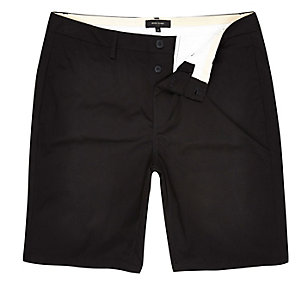 Big and Tall black chino shorts