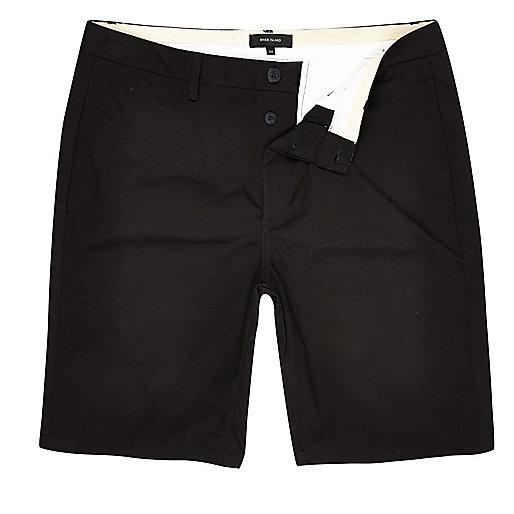 Big and Tall black chino shorts