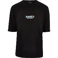 T-shirt oversize noir imprimé Hidden Places