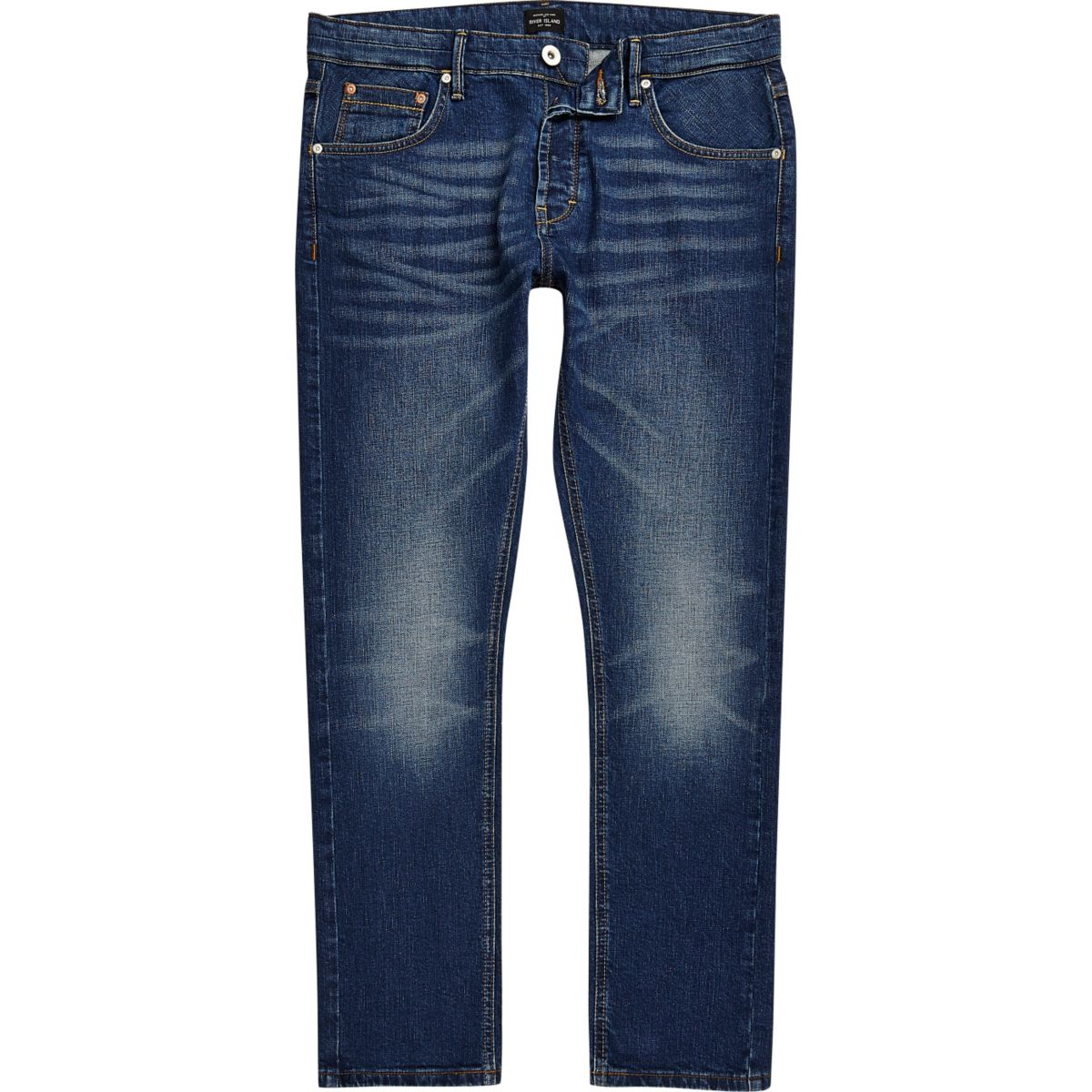 Mens Mid Blue wash fade skinny Sid jeans River Island Buy Cheap Perfect 2018 Unisex For Sale High Quality Sale Online Cheap Sale 5jcGR7rZ