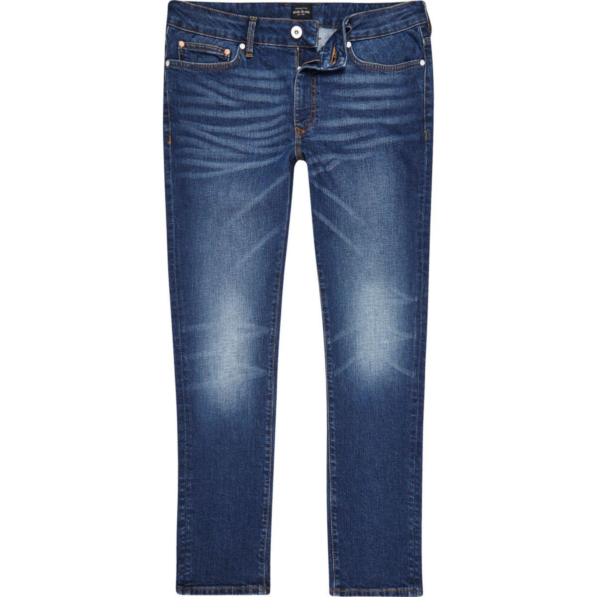 Mid blue wash slim fit Dylan jeans