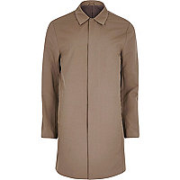 Brown smart mac coat
