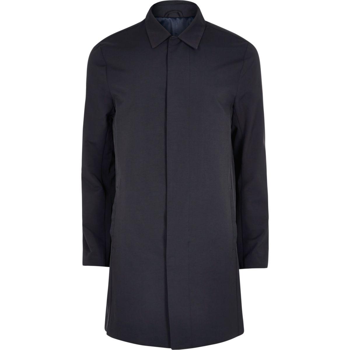 Navy smart mac coat - Coats & Jackets - Sale - men
